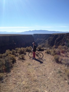 West Rim Trail overlooking the Rio Grande