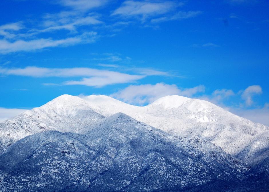 Taos Mountain on a glorious winter day
