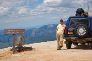 Ric at the summit of Imogene Pass. Telluride, CO